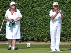 Shirley Foxwell and Sue Paterson in the Betty McMillan Triples