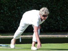 Margaret Atkins on her way to the ladies Championship title