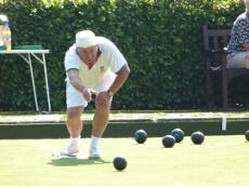 Mick Lewry bowling